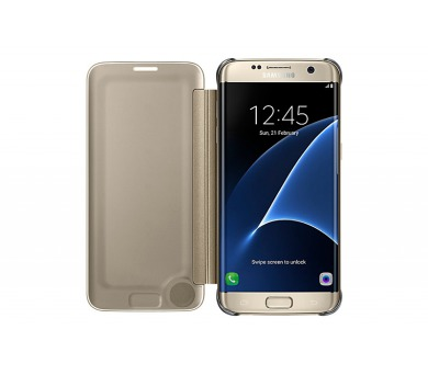 Samsung Clear View pro Galaxy S7 Edge (EF-ZG935C) - zlaté