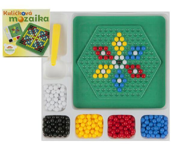 Mozaika kuličková malá 250 ks plast 12x12cm v krabičce