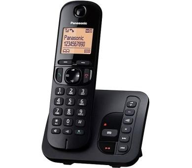 Panasonic KX-TGC220FXB se záznamníkem - černý + DOPRAVA ZDARMA