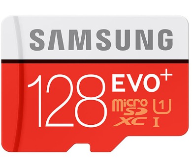 Samsung Micro SDXC EVO+ 128GB UHS-I U1 (80R/20W) + adapter