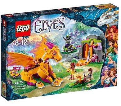 Stavebnice LEGO® ELVES 41175 Lávová jeskyně ohnivého draka