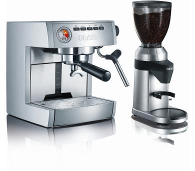 Graef ES 85 + mlýnek na kávu Graef CM 800