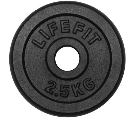 Lifefit kovový 2,5kg pro 30mm tyč - černá