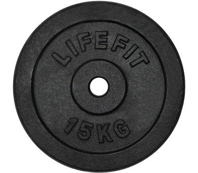Lifefit kovový 15kg pro 30mm tyč - černá