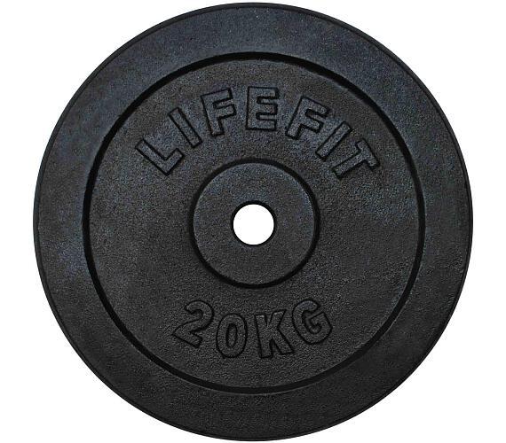 Lifefit kovový 20kg pro 30mm tyč - černá