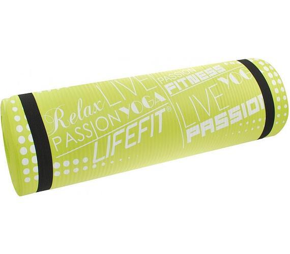 Lifefit Yoga Mat Exkluziv 100x60x1cm - zelená