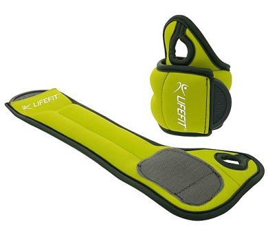 Lifefit Hand Weights na ruce 2x0,5kg - zelená