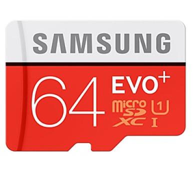 Samsung Micro SDXC EVO+ 64GB UHS-I U1 (80R/20W) + adapter + DOPRAVA ZDARMA