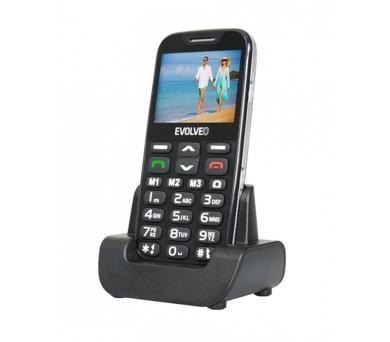 Mobilní telefon Evolveo EVOLVEO EasyPhone XD pro seniory - černý + DOPRAVA ZDARMA