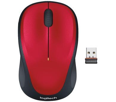 Logitech Wireless Mouse M235 / optická / 3 tlačítka / 1000dpi - červená