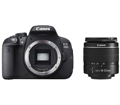 Canon EOS 700D + objektiv EF-S 18-55 DC černý