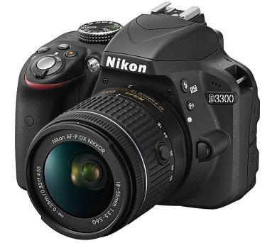 Nikon D3300 + 18-55 AF-P DX + ZDARMA powerbanka Nikon + DOPRAVA ZDARMA
