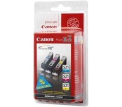 Canon CLI-521 C/M/Y originální - modrá/žlutá/růžová