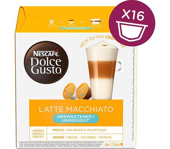 NESCAFÉ neslazené Latté Macchiatto 16 ks k Dolce Gusto + kupte 3 balení a vyhrajte kávovar Infinissima