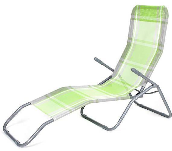 Plážové lehátko Happy Green zelená kostka 50F2031XGC