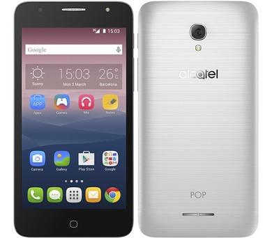 Mobilní telefon ALCATEL POP 4+ 5056D - stříbrný