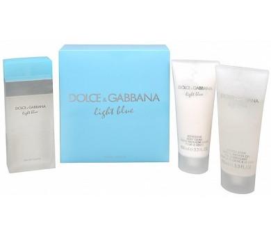 Toaletní voda Dolce & Gabbana Light Blue 100ml + 100ml tělový krém + 100ml sprchový gel
