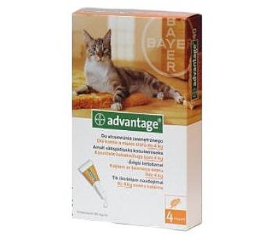 Bayer ADVANTAGE Spot-on Cat 4x0,4 ml (pro kočky do 4 kg)
