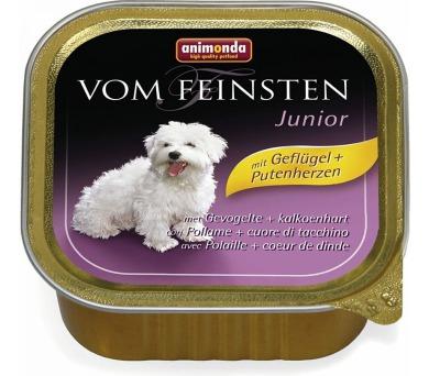 Animonda Vom Feinsten Junior drůbeží + krůtí srdce 150g