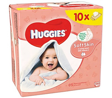 Ubrousky čistící HUGGIES® Soft Skin 10 x 56ks