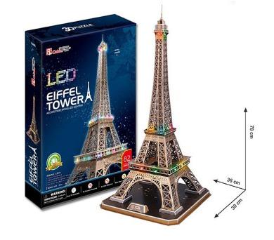 Alltoys Eiffelova věž/LED 3D - 82 dílků + DOPRAVA ZDARMA
