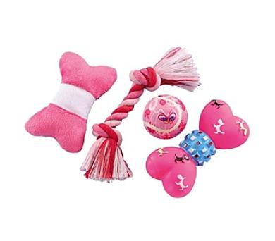 Nobby Puppy Set pro štěně 4ks - růžová