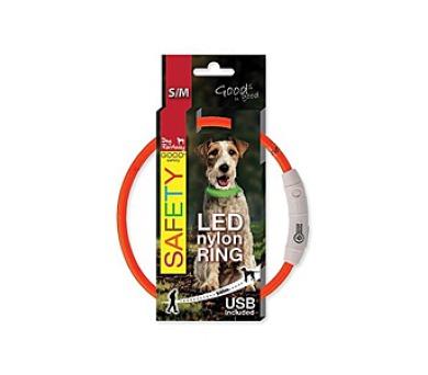 Dog Fantasy LED nylonový S/M - oranžová