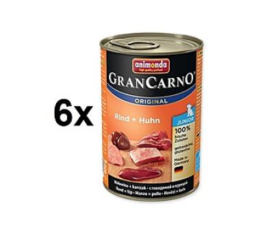 Animonda Junior Gran Carno kuře + hovězí 6 x 400g