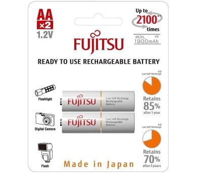 Nabíjecí tužkové baterie Fujitsu bílé AA 2 ks FU-3UTCEX-2B