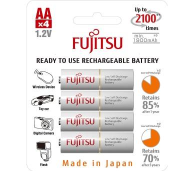 Tužková baterie Fujitsu HR-3UTCEX-4B WHITE AA 4x