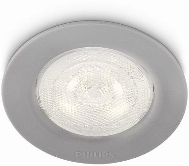 Sceptrum SVÍTIDLO ZÁPUSTNÉ ŠEDÁ LED 1x3W 230V Philips 59101/87/16