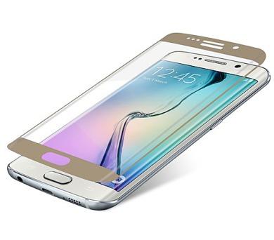InvisibleSHIELD Glass Contour pro Samsung Galaxy S6 Edge - zlatý rám + DOPRAVA ZDARMA