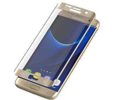 InvisibleSHIELD Glass Contour pro Samsung Galaxy S7 Edge - zlatý rám + DOPRAVA ZDARMA