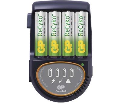 GP nabíječka baterií PB50 + 4AA ReCyko + DOPRAVA ZDARMA