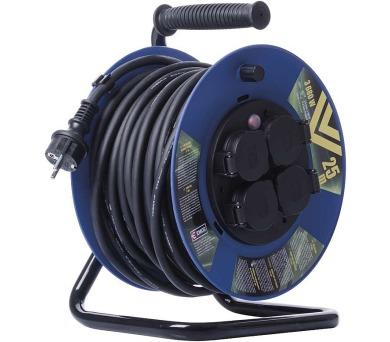 Gumový prodlužovací kabel na bubnu 25M 4Z SCHUKO 1,5mm