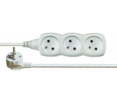 Prodlužovací kabel SCHUKO 3 zásuvky 3 m 1,0mm