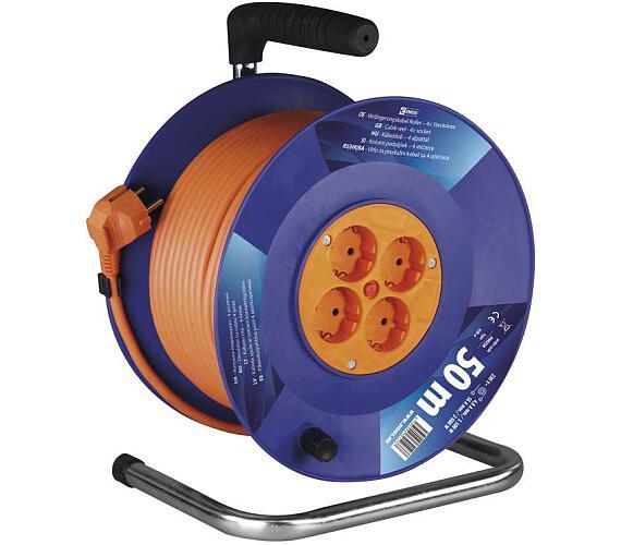 PVC prodlužovací kabel na bubnu - 4 zásuvky 50m SCHUKO