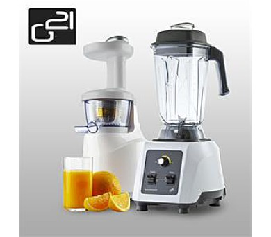 G21 blender perfect smoothie + perfect juicer white + DOPRAVA ZDARMA