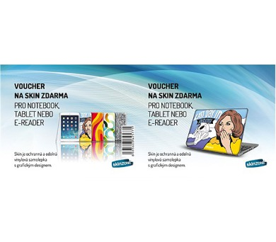 Voucher na skin Skinzone pro Notebook a tablet CZ