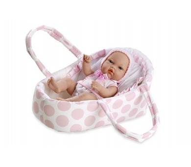 Panenka/miminko pevné tělo 33cm v tašce v sáčku + DOPRAVA ZDARMA