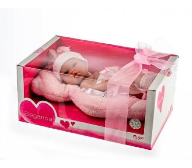 Panenka/miminko vonící 33cm růžové pevné tělo v krabici + DOPRAVA ZDARMA