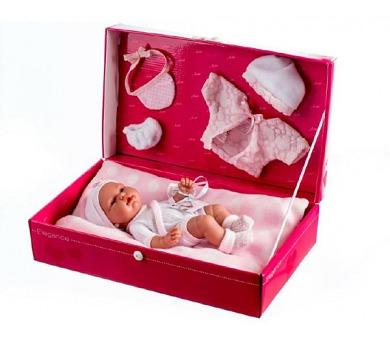 Panenka/miminko vonící 26cm pevné tělo s doplňky v krabici + DOPRAVA ZDARMA