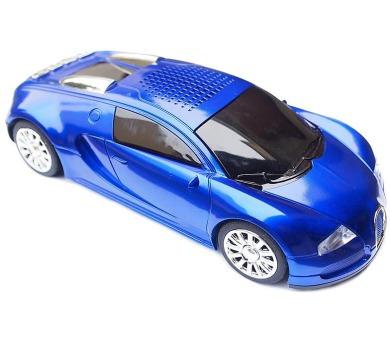 Kruger&Matz Quer KOM0464-red/blue ,MiniJukebox- design auta s LCD displejem a FMradiem(88-108 MHz),2x3W