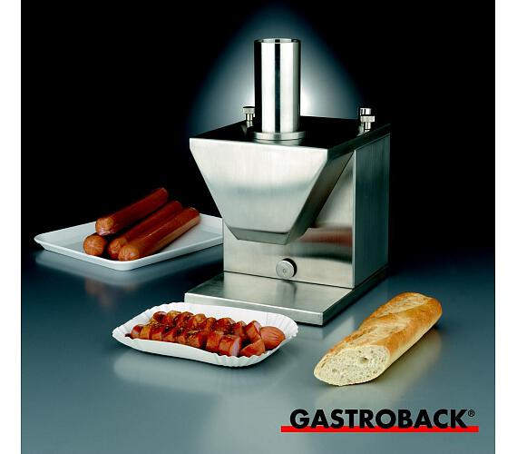 Gastroback 41404-Gastro Profi elektrický kráječ uzenin z nerez oceli,dvojitý srpovitý nůž + DOPRAVA ZDARMA
