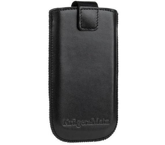 """Kruger&Matz KM0041 Pouzdro kožené na mobilní telefon 4,3"""" - černé"""