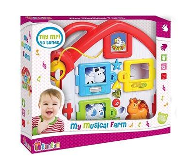 Hudební hračka BamBam - farma + DOPRAVA ZDARMA