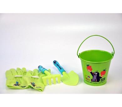 Zahradní nářadí dětské s kbelíkem průměr 15cm plast/plech Krtek + DOPRAVA ZDARMA