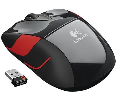 Logitech Wireless Mouse M525 / optická / 5 tlačítek / 1000dpi - černá/červená