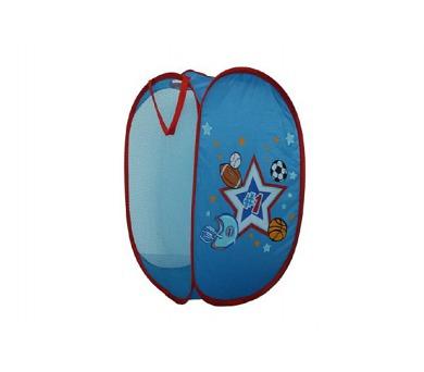 Koš na hračky modrý pro kluky 36x36x58cm polyester v sáčku