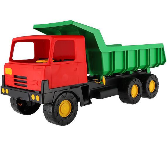 Auto Tatra 815 korba zelená kabina červená plast 75cm + DOPRAVA ZDARMA